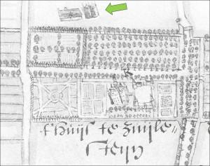 Hendrick Verstralen uit 1633 met pijl